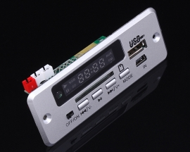 5V MP3 WMV Decoder Board Bluetooth Call 3W Amplifier w/ Remote Control