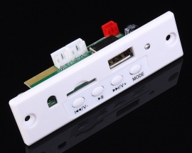 3.7-5V White MP3 Decoder Board Bluetooth Call FM AUX Support AUX Input/TF Card/U-Disk