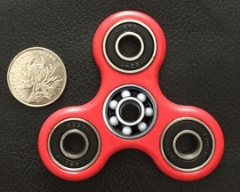 [HM10119]Hand Tri Fidget Spinner Toy Stress Reducer EDC Stocking Stuffer Red
