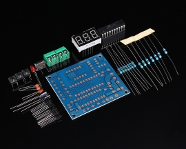 DIY Kits AT89C2051 DS18B20 Kit Digital Temperature Controller Microcontroller Design Thermometer Electronic Suite