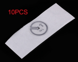 10PCS RFID UHF Radio Frequency Passive Electronic Tag Label Diameter 12mm for Access Control