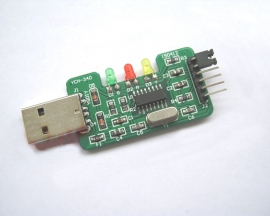 CH340G USB to TTL Kit 25x45mm Onboard Indilator Lamps STC/STM32 Downloader Components DIY Kits