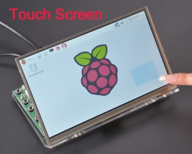 "K-0092 7"" TFT LCD Touch Screen HDMI 1024x600 with Shell for Raspberry Pi"