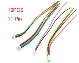 10PCS 11P Terminal Single Head Wire Connector Adapter Cable 100mm For LED Strip Lights