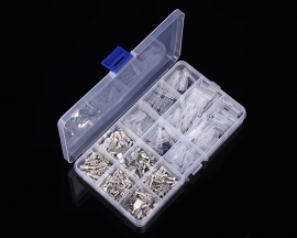 270pcs 2.8/4.8/6.3mm Female + Male Terminal + Connector Sleeve Kits