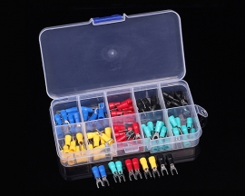100pcs SV1.25-3 U-Type Cold Terminal Kits 5-Colors Insulated Crimp Terminals for 0.5-1.5mm² Cable