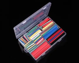 385PCS Colorful 2:1 Heat Shrink Tube Tubing 9 Sizes Sleeving Wrap Cable Wire Kit Sets with Case