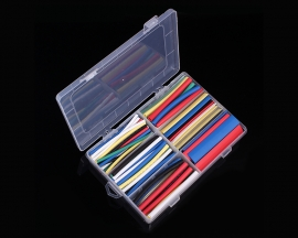 154PCS Colorful 2:1 Heat Shrink Tube Tubing 6 Sizes Sleeving Wrap Cable Wire Kits Set with Case