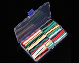 140PCS Colorful 2:1 Heat Shrink Tube Tubing 7 Sizes Sleeving Wrap Cable Wire Kits Set with Case