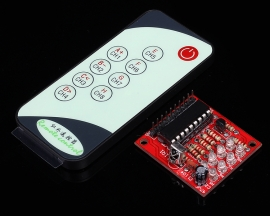 8 Channel Self-Lock Infrared Receive Module + 9-Key Remote Control 3-5V 5-8m