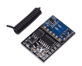 433MHz 4 Channel Wireless Receiver Board Module Inching Interlock Self Locking Modes 4.5-5.5V