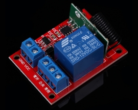 1-Channel Wireless Self-Lock Module + 2-Key RF 433MHz Remote Control 12V 40mA 15-30m