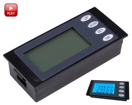 Blue Digital LCD Display Voltmeter Ammeter Power Meter Digital Power Monitor AC 80-260V 20A/4400W