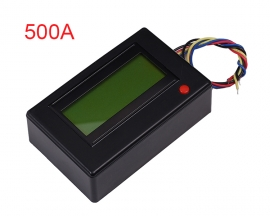 500A Digital Display Ammeter Voltmeter Power Meter Clock Reverse Connection Protection