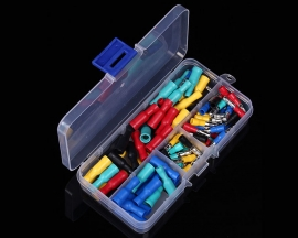 50Sets 5-Colors Insulated Wiring Terminals Female Male Connectors Assortment Electrical Crimp Terminals