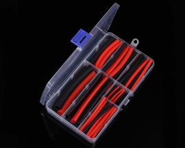 106PCS Red Black 7-Sizes Heat Shrink Wire Wrap Tube 3:1 Assortment Waterproof Sleeve