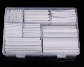 385PCS 2:1 White Heat Shrink Wire Cable Wrap Tube Assortment Assorted Sleeve 9 Sizes