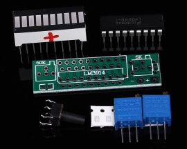 LM3914 Red LED Bar Display Module 10 Segments Battery Power Indicator Battery Capacity Indicating Tester DIY Kits