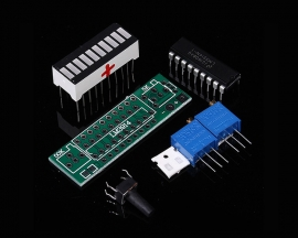 LM3914 Green LED Bar Display Module 10 Segments Battery Power Indicator Battery Capacity Indicating Tester DIY Kits