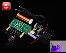 DC 15-24V 15W Mini DIY Music Tesla Coil Plasma Speaker Plasma Loudspeaker Tesla Wireless Transmission Kits DIY Module
