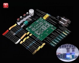 AC 12V Tube Buffer Preamplifier Preamp Board Amplifier Module Audio Signal Board DIY Kit AMP Module