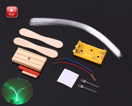 DIY Kit RGB Flashing LED Optic Fiber Light Lamp Colorful Night Light Kits for Holiday Party Room Decoration