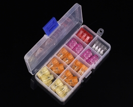22pcs 5-Colors 2/3/4/6/8bit Nylon Wall-Nuts Push-Wire Connector Kit Terminal Block Assortment