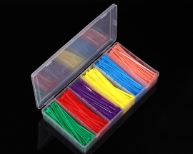 480pcs 3x100mm 6 Colors Nylon Plastic Zip Trim Wrap Cable Loop Ties Wire Self-Locking Kit