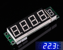 Blue DS18B20 Digital Display Thermometer Module Photosensitive Control Module 6-15V 60mA