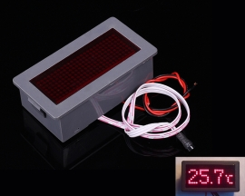 DZB198 Red LED Display Dot Matrix Electronic Thermometer 5V 200mA with Shell