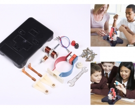 TY Disassembling Motor Model DIY Kits DC 3-6V Magnet DC Motor Model J24018 for Studying Magnetic Line of Force Educational Practice Learning Kit