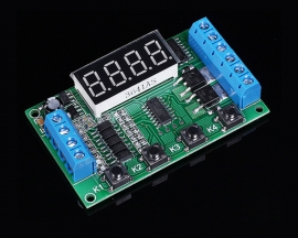Dual Channel Delay Timing Cycle Switch Relay Module Programmable Controller Board 12/24V