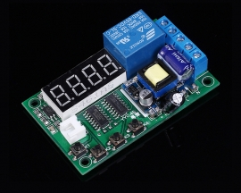 Trigger Delay Timing Cycle Relay Module Digital Display Board AC 220V for Eletromagnet Valves Motors
