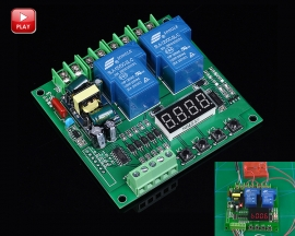 AC Motor Positive Negative Control Rotate Controller Board Digital Display Dual Channel Relay Module 220V