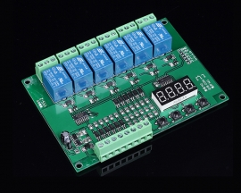 6-Channel Programmable Relay Module Delay/Selflock/Inching/Interlock Switch Board 12V