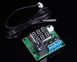 Red Digital Display Temperature Controller Thermometer Module DC 5V with 1m Waterproof Sensor
