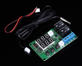 5V Dual Channel Relay Module Red Digital Display Thermometer Temperature Control Board