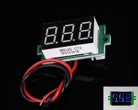 Blue Digital Display Thermometer Thermostat Temperature Controller Module DC 4-28V with NTC Metal Waterproof Probe