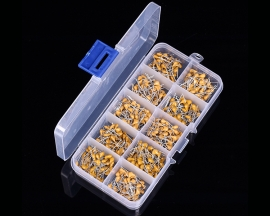 500PCS 10 Values 0.1uF-10uF Monolithic Capacitors Leaded Multilayer Capacitor Assortment Kit