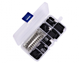 310pcs 1P/2P/3P/4P/5P/6P/8P/Female/Male Pin 2.54mm Dupont Jumper Head Dupont Plastic Shell Pin Header Wire Cable Housing Shell Connector Kit