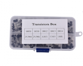 200Pcs T0-92 Transistor Assortment Kit 10 Values S8050 S8550 S9012 S9013 S9014 2N3904 2N3906 A1015 C1815 MJE13001 Each 20Pcs with Plastic Box