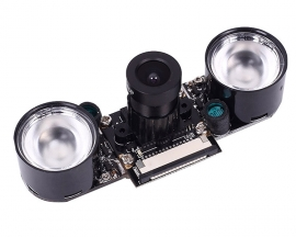 [A300] 1pcs 500W Pixel Infrared Night Vision Sight Camera Module + 2pcs 3W Photosensitive Infrared Lamp Module for Raspberry Pi