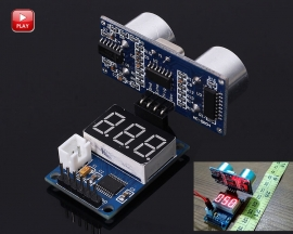 [A305]Ultrasonic Distance Measurement Control Board Rangefinder Digital Display + Ultrasonic Module HC-SR04 Distance Transducer Sensor for Arduino