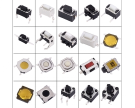 200PCS 100valuesx2pcs Tact Switch 2x4 3x4 3x6 6x6 12x12mm Tactile Push Button Switch Kits Micro Switch