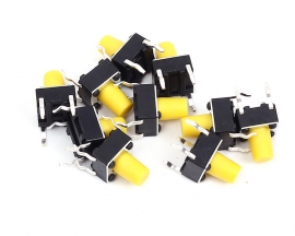 80PCS 8valuesx10pcs 6x6 Colorful Tact Switch Kit Tactile Push Button Switches 6x6x4.3mm Micro Key Switch Kits