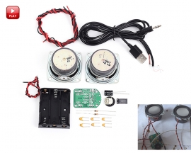DIY Audio Power Amplifier Board Kit Radio Speaker Loudspeaker DIY Kits Module 3W DC 4.5-5V with Battery Case