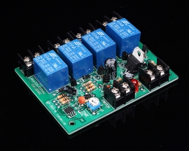 10A 250V 4 Channel Power Time Sequence Board 0.2-4s Adjustable Sequential Controller Module