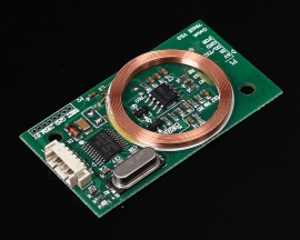 RFID Reader Wireless Module UART 3Pin 125KHz EM4100 8CM DC 5V for IC Card