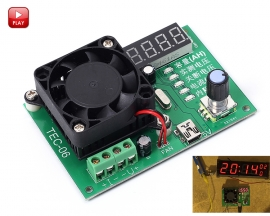 TEC-06 Battery Capacity Tester Module Power Supply Module Mini USB 16W Electronic Load Max 500AH LED Display with Fan