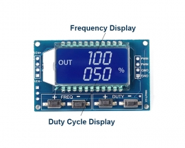 Signal Generator PWM Pulse Frequency Duty Cycle Adjustable Module LCD Display 1Hz-150Khz 3.3V-30V